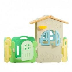 Casetta Per Bambini Partyfun multifunzione con canestro porte e finestre apribili H117 X L163 X L146