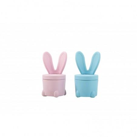 Sedia Portagiochi Bunny Rosa per Bambini Mobiletto 2 in 1 misure H53 x L32 x P32