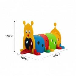 Bruco Tunnel Modulare per Bambini H108 x L185 x L100 cm
