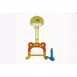 Set Canestro Da basket 3 in 1 con porta Da Calcio centro Attività alezza regolabile