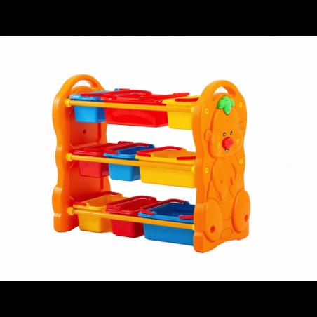 Scaffale per Giocattoli Portagiochi Mobiletto Multi Ripiano per Bambini con 9 ceste H95 x L79 x P42