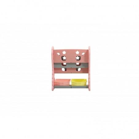 Scaffale per Giocattoli Portagiochi Mobiletto Multi Ripiano per Bambini con ceste H88 x L77x P36