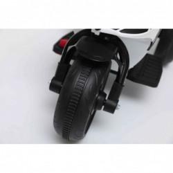 Moto Elettrica per bambini Polizia Rossa con Musiche Luci Mp3 Marcia avanti e indietro accelleratore 3 ruote