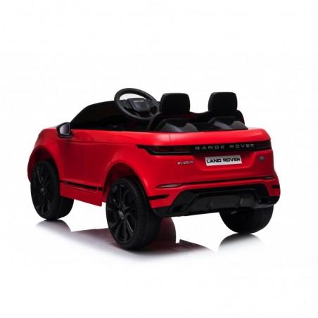 Auto Macchina Elettrica Range Rover Evoque 12V per Bambini sedile in pelle porte apribili Con telecomando Full accessori (ROSSA)
