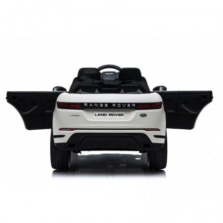 Auto Macchina Elettrica Range Rover Evoque 12V per Bambini sedile in pelle porte apribili Con telecomando Full accessori BIANCA