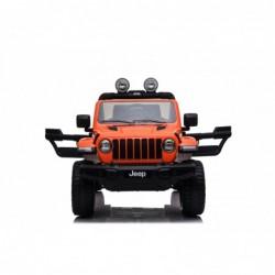 Auto Macchina Elettrica Jeep Wrangler Rubicon 12V per Bambini porte apribili Con telecomando Full accessori (Orange)