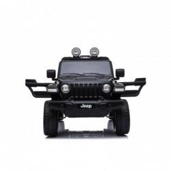 Auto Macchina Elettrica Jeep Wrangler Rubicon 12V per Bambini porte apribili Con telecomando Full accessori (Nera)