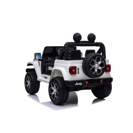 Auto Macchina Elettrica Jeep Wrangler Rubicon 12V per Bambini porte apribili Con telecomando Full accessori (Bianca)
