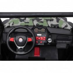 Auto Macchina Elettrica New Polar 24V Militare per Bambini 2 Posti Full Optional Sedile Regolabile E telecomando