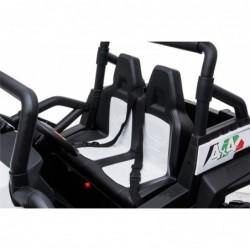 Auto Macchina Elettrica New Polar 24V per Bambini 2 Posti Full Optional Sedile Regolabile E telecomando (Bianca)