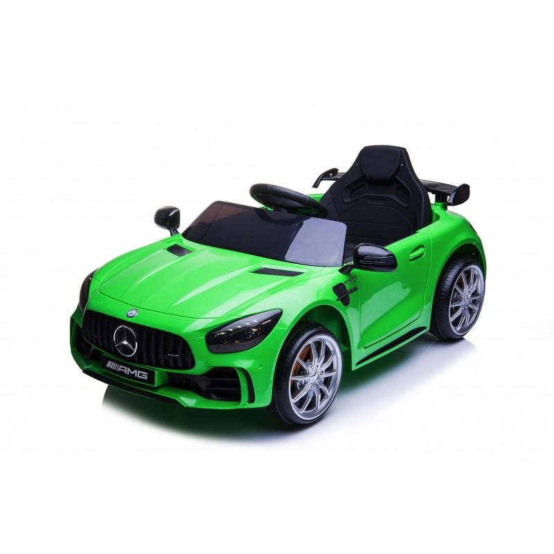 Auto Macchina Elettrica per Bambini Mercedes AMG GTR 12V Porte Apribili Full Optional con telecomando Verde