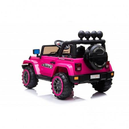 Auto Macchina Elettrica per Bambini Fuoristrada Adventure Rosa 12V MP3 Led con Telecomando Full Optional Sedili in Pelle