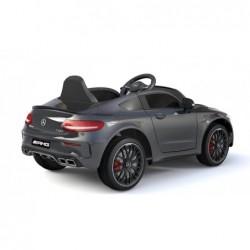 Auto Elettrica per Bambini 12V Mercedes C63 AMG Nera Porte Apribili con telecomando