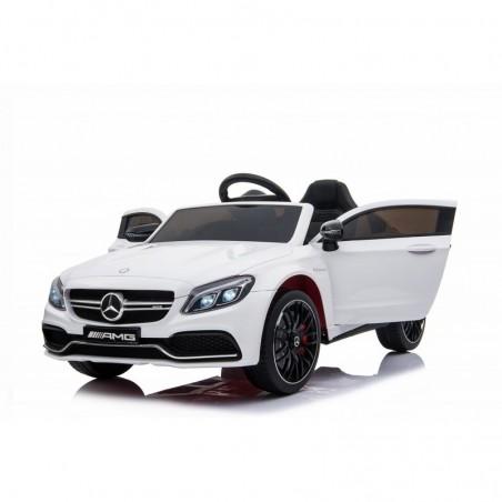 Auto Elettrica per Bambini 12V Mercedes C63 AMG Porte Apribili con telecomando