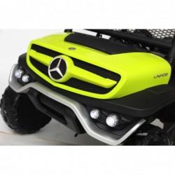 Auto Macchina Elettrica per Bambini Fuoristrada Mercedes UNIMOG 2 Posti 12V Ammortizzata con Telecomando Full Optional MP3 Led V