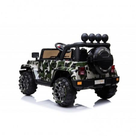 Auto Macchina Elettrica per Bambini Fuoristrada Army 12V MP3 Led con Telecomando Full Optional