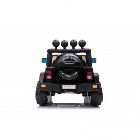 Auto macchina elettrica fuoristrada adventure per bambini nera 12V MP3 Led con Telecomando Full Optional Sedili in Pelle