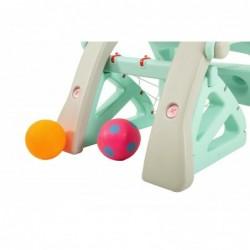 Scivolo Per bambini 2 in 1 Con Basket Esterni Interno Giardino Multifunzione H53 X L105 X L52