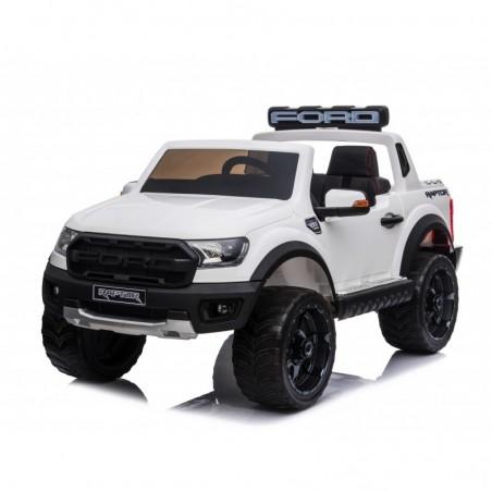 Auto Elettrica per Bambini 2 posti Ford Ranger Raptor 12 Volt Ruote in Gomma Sedile in Pelle porte apribili e telecomando 2.4 GH