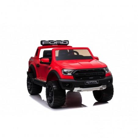 Auto Elettrica per Bambini 2 posti Ford Ranger Raptor Rossa 12 Volt Ruote in Gomma Sedile in Pelle porte apribili e telecomando