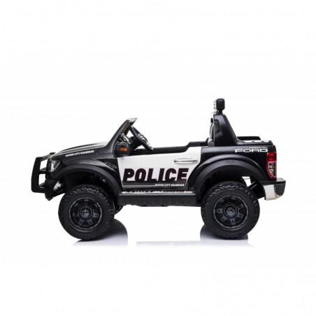 Auto Elettrica per Bambini 2 posti Ford Ranger Raptor Police 12 Volt Ruote in Gomma Sedile in Pelle porte apribili e telecomando