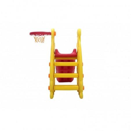 Scivolo Per bambini Esterni Interno Giardino Con Basket Multifunzione H110 X L170 X L85 Castornino Alta Resistenza Eco-Friendly