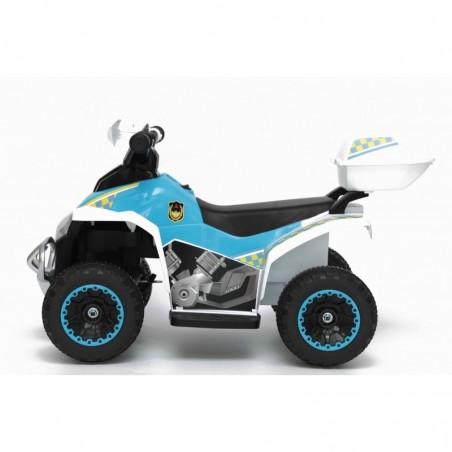 Quad Elettrico Per Bambini Racer Sport con luci suoni Mp3  bauletto marcia avanti indietro e accellelratore