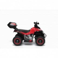 Quad Elettrico Per Bambini Racer Rosso con luci suoni Mp3  bauletto marcia avanti indietro e accellelratore