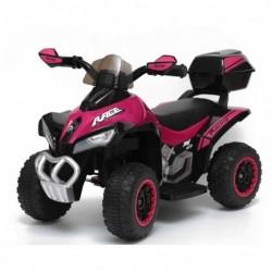 Quad Elettrico Per Bambini Racer  Rosa con luci suoni Mp3  bauletto marcia avanti indietro e accellelratore