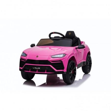 Auto Macchina Elettrica per Bambini 12V Lamborghini URUS con Telecomando Rosa Porte apribili Led e suoni Mp3
