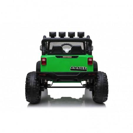 Auto Macchina Elettrica Fuoristrada Big Adventure 24V Verde per Bambini 2 Posti Full Optional sedile in pelle telecomando porte