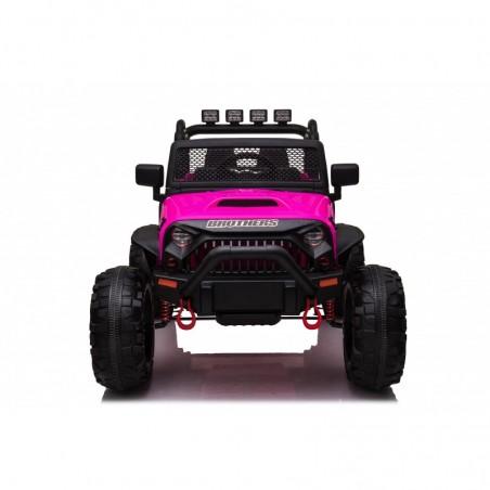 Auto Macchina Elettrica Fuoristrada Big Adventure 24V Rosa per Bambini 2 Posti Full Optional sedile in pelle telecomando porte a