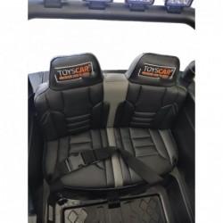 Auto Macchina Elettrica Fuoristrada Big Adventure 24V Nera per Bambini 2 Posti Full Optional sedile in pelle telecomando porte a