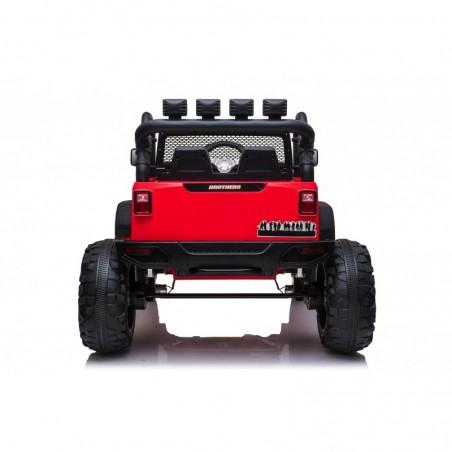 Auto Macchina Elettrica Fuoristrada Big Adventure 24V Rossa per Bambini 2 Posti Full Optional sedile in pelle telecomando porte