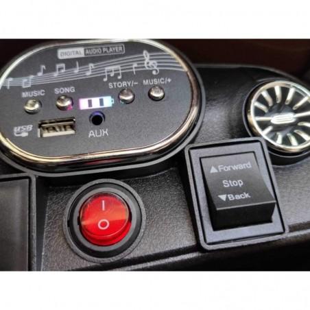 Auto Macchina Elettrica per Bambini 12V Mercedes CLS 350 AMG Rossa con Sedile in Pelle Telecomando 2.4 GHz Porte Apribili e MP3