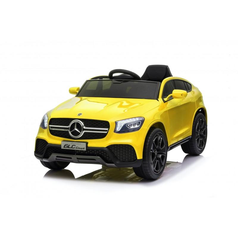 Auto Macchina Elettrica per Bambini 12V Mercedes GLC Coupè Concept con telecomando Gialla
