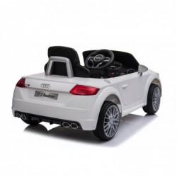 Auto Macchina Elettrica per Bambini 12V Audi TT S RoadSter Sedile Pelle con Telecomando Bianca
