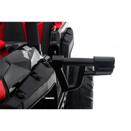 Auto Macchina Elettrica Fuoristrada Racing 2 Posti 12V per Bambini porte apribili Con telecomando (Rossa)