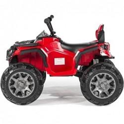 Super Quad Lander elettrico per Bambini 12V doppio motore Full optional con Ammortozzatori Rosso con Telecomando