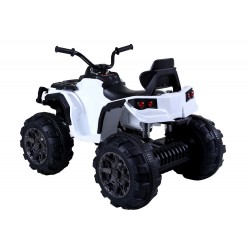 Super Quad Lander elettrico per Bambini 12V doppio motore Full optional con Ammortozzatori Bianco con Telecomando