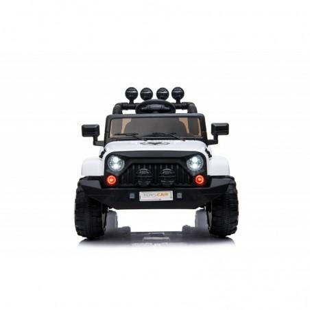 Auto Macchina Elettrica per Bambini Fuoristrada Bianca 12V MP3 Led con Telecomando Full Optional Sedili in Pelle