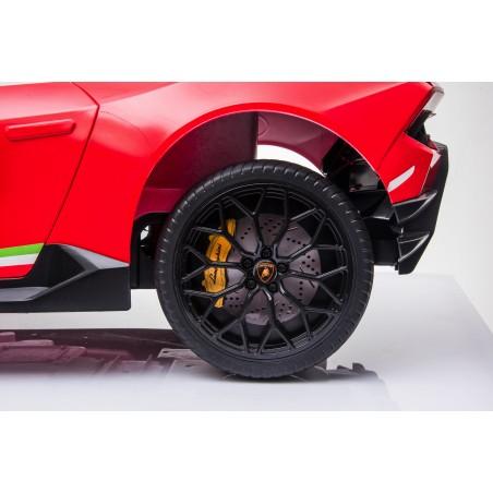 Auto Macchina Elettrica per Bambini 12V Lamborghini Huracán Rossa con Telecomando Porte apribili Led e suoni Mp3