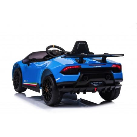 Macchina Elettrica per Bambini 12V Lamborghini Huracán Blue con Telecomando Porte apribili Led e suoni Mp3