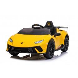 Macchina Elettrica per Bambini 12V Lamborghini Huracán Gialla con Telecomando Porte apribili Led e suoni Mp3