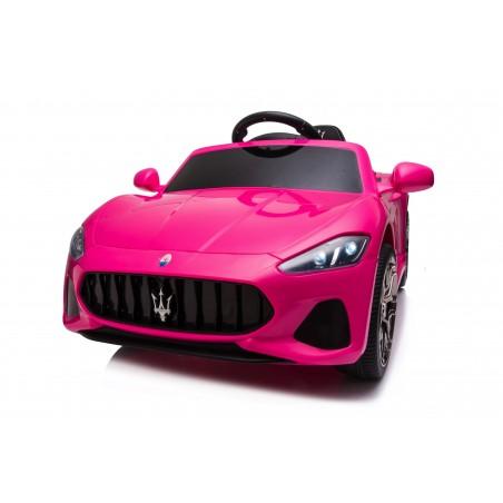 Macchina Elettrica per Bambini 12V Maserati GranCabrio Rosa con sedile in pelle Telecomando Porte apribili Led e suoni Mp3