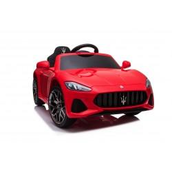 Macchina Elettrica per Bambini 12V GranCabrio Rossa con sedile in pelle Telecomando Porte apribili Led e suoni Mp3
