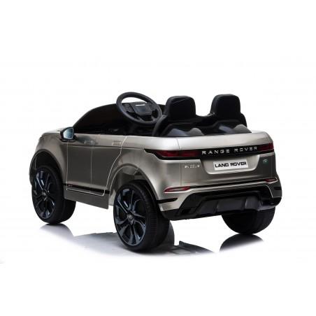 Auto Macchina Elettrica Range Rover Evoque 12V per Bambini sedile in pelle porte apribili Grigio metallizzato Con telecomando